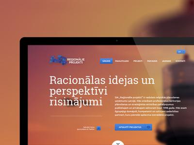 Website design and development for Reģionālie Projekti Ltd