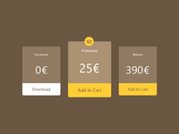 Pricing table