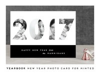 Yearbook New Year card for Minted
