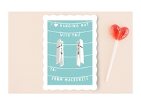 Hanging Buddies Classroom Valentine for Minted
