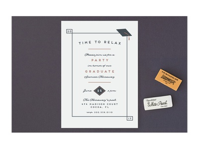 Time to relax invitation grad party party graduate grad graduation minted stationery