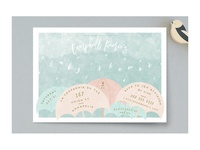Rain baby shower invitation