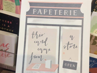 Papeterie for Minted modern calligraphy handlettering illustration stationery store papeterie stationery national stationery show nss minted wholesale minted