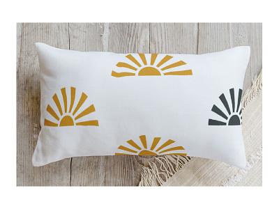 Sunrays textile design home decor pillow geometric sun surface pattern fabric minted