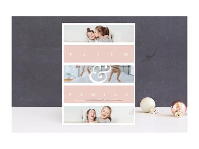 Family Faith seasons greetings christmas card family faith religious holidays christmas stationery minted