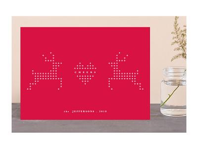 Peaceful Reindeer heart cross reindeer holiday cards seasonss greetings christmas holidays holiday stationery minted