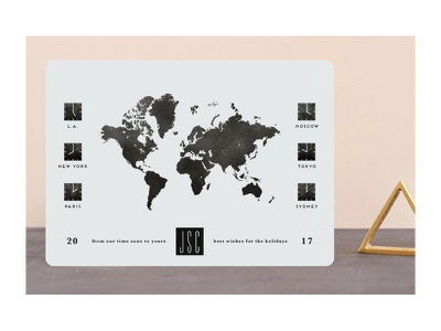 New Year Time Zones map worldwide clocks time zones world map holiday cards holidays holiday stationery minted