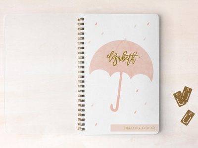 Rainy Day notebook for Minted umbrella rain journal diary notebook stationery minted
