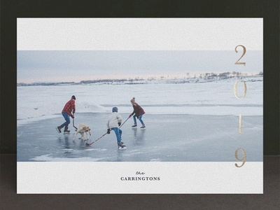 Elegance New Year card for Minted new year card foil pressed stationery new year minted