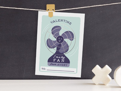 Fan classroom Valentine for Minted foil pressed ventilator fan classroom valentine valentines day stationery valentine minted