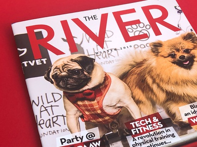 The River Magazine Winter 2019 Edition advert design visual design publication design editorial design typography design typography creative design print designer magazine design print design print freelance graphic designer freelance designer graphic designer graphic design design