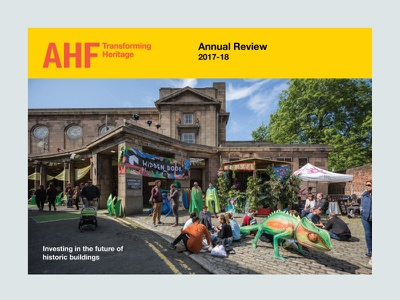 The Architectural Heritage Fund Annual Review 2017-18 graphic designer publication design creative design print designer print design visual design graphic design brochure layout brochure design editorial layout editorial design design
