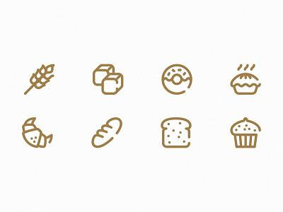 Bake & Co. illustrator icongraphy icon packaging minimal logo illustration graphic design design branding baking bakery bake