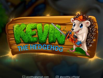 Kevin The Hedgehog Cartoon Logo By Avoltha