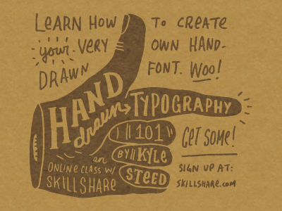 Hand-Drawn Typography 101 typography hand-drawn skillshare