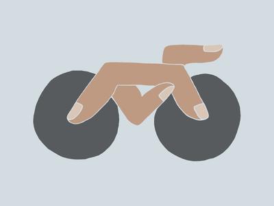 Finger Bike illustration fingers bicycle