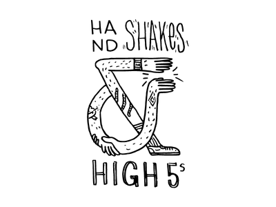 Hand Shakes & High Fives illustration high-five ampersand