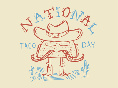 National Taco Day tacos illustration hand-drawn