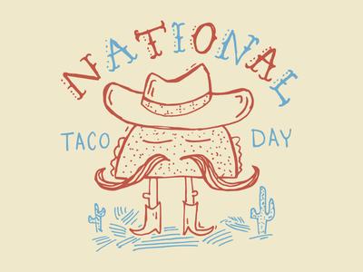 National Taco Day tacos illustration hand-drawn