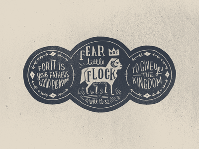 Little Flock bible illustration hand-drawn lettering