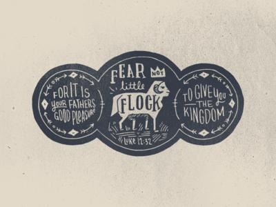 Little Flock bible illustration hand-drawn lettering