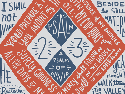 Psalm 23 bible psalm 23 hand-drawn lettering