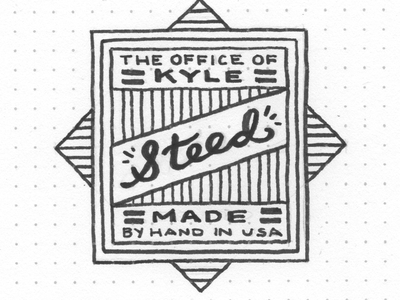 The Office of Kyle Steed stamp seal lettering hand-drawn just for fun experiment