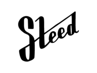 Steed Mark II steed hand-drawn logo design black white