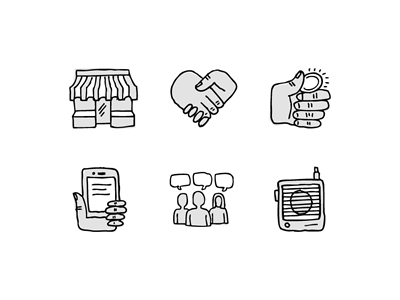 Pure Charity Icons icons hand-drawn pure charity