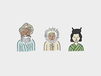 Diversicons illustrations hand-drawn pure charity