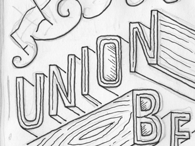 Union Be hand-drawn lettering typography