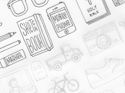 New Icons illustration icons wip pencil pen