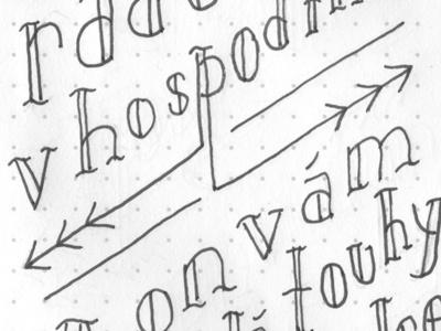 Czech Yo Self hand-drawn tattoo lettering