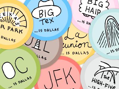 What Is Dallas dallas texas illustration design respect