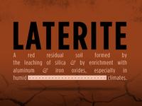 Laterite Slide 1