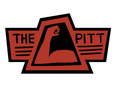The Pitt Logo hand-drawn logo typography mucle arm-pit