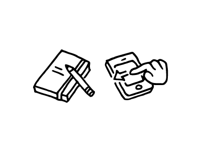 Write And Swipe steedicons icons hand-drawn