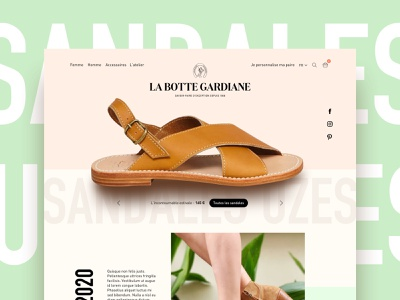 Leather Shoes E-commerce e-commerce shoes web design visual identity art direction ux ui