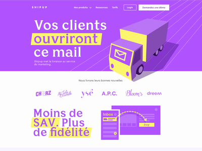 Delivery Notification Service Landing Page