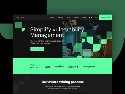 Cyber security landing page landing page vector web design ux art direction visual identity branding ui