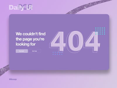 404 page | Daily UI 008 dailyui008 404page 404 userinterface illustration design ui dailyuichallenge