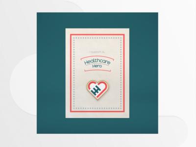 Health Care Hero Pin