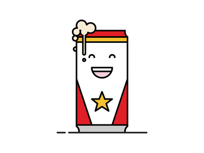 Happy Lone Star icon illustration star texas lone star tall boy can happy beer
