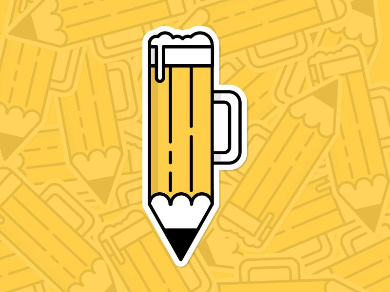 Drink N Draw illustration icon sticker draw drink beer pencil