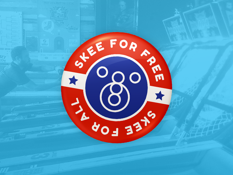 Skee for Free! badge button political skeeball skee