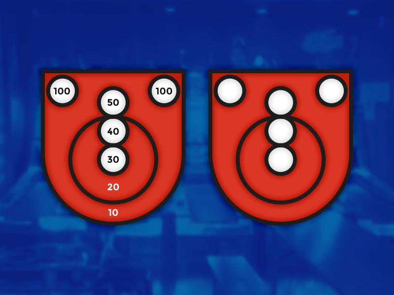 Skee Ball Enamel Badge badge enamel skeeball skee ball