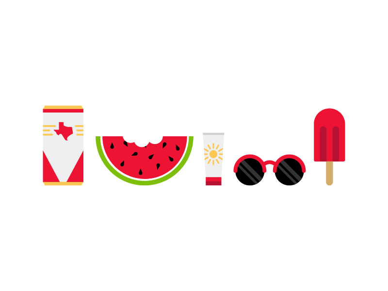 National Watermelon Day! sunglasses illustration fruit popsicle texas beer watermelon