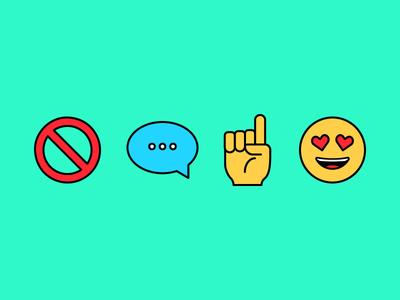 No words, just emojis.