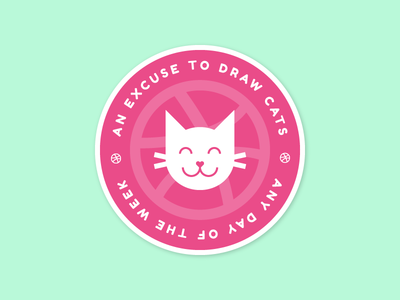 Dribbble Means Cats!