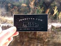 John's Van Sticker